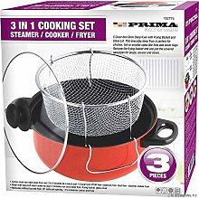 3 in 1 Cooking Set Steamer/Cooker/Fryer