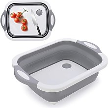 3-in-1 Cutting Board Foldable Sink Bowl Foldable