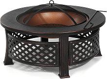 3 in 1 Fire Pit Patio BBQ Brazier Bowl Garden