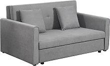 3-in-1 Sofa Bed Storage 2 Seater w/ Foam Padding