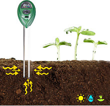 3-in-1 Soil Test PH Moisture Meter Light Tester