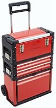 3-in-1 Trolley Tool Box Set 4 Drawers Boxes