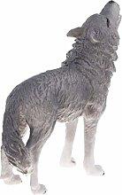 3 Inch Plastic Realistic Wild Animal Model Grey