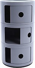 3 Layers Container Plastic Round Storage Cabinet