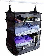 3 Layers Travel Wardrobe Bag Suitcase Shelves