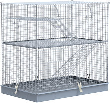 3-Level Metal Hamster Cage Small Animal Rat Hutch