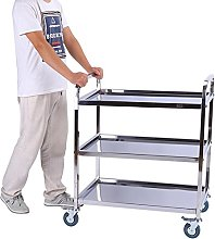 3 Levels Serving Trolley with Large Brake