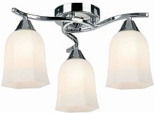 3 Light Ceiling Light, Chrome Finish with Matt