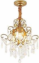 3 Light K9 Crystal Chandelier Brushed Brass