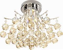 3 Lights Ceiling Chandelier Pendant Crystal Light