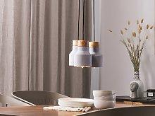 3 Lights Pendant Cluster Grey Lamp Ceiling