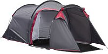 3 Man Camping Tent w/ Porch Mesh Windows Vents