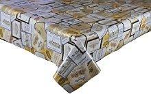 3 METRES (300cm x 137cm) VINYL / PVC TABLE CLOTH