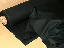 3 Metres Black Flame Retardant Calico Fabric -