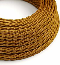 3 Metres - Gold 3 Core Vintage Retro Braided