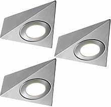 3 Pack   *240V Mains* LED Triangle Under Cabinet