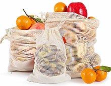 3 Pack 3 Sizes Reuseable Produce Bags,Cotton Net