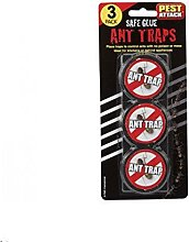 3 Pack Ant Trap Traps Baited Glue Anti Stop Nest