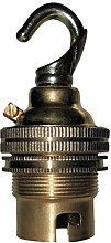 (3 Pack) Bayonet Cap (B22) Lamp Holder in Brass