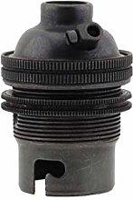 (3 Pack) Bayonet Cap (B22) Lamp Holder in Dark