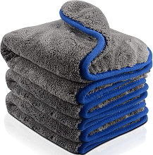 (3 pack?Blue)Microfibre Car Cleaning Cloths,
