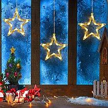 3 Pack Christmas Indoor Window Light Decoration,