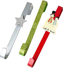 3 Pack Christmas Over Door Hooks for Clothes