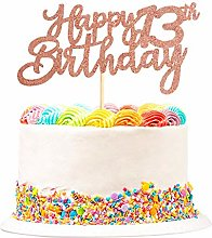 3 Pack Happy 13th Birthday Cake Topper Glitter