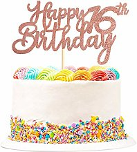 3 Pack Happy 16th Birthday Cake Topper Glitter