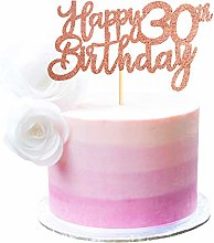 3 Pack Happy 30th Birthday Cake Topper Rose Gold