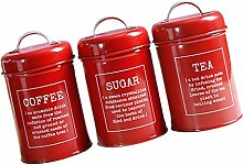 3 Pack Kitchen Canister Set with Airtight Lid for