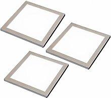 3 Pack   LED Under Cabinet Square Panel Spot Light