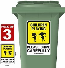 3 Pack of Children Playing Please Drive Carefully