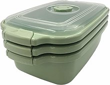 3 Pack of PLAST Food Container with vented lid
