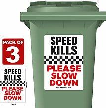 3 Pack of Speed Kills Please Slow Down Speed