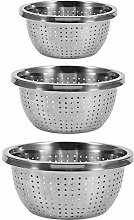 3 Pack Stainless Steel Rice Sieve Rice Washing