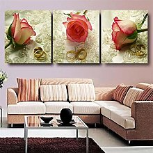 3 Panel Picture Flower Oil Painting HD Print