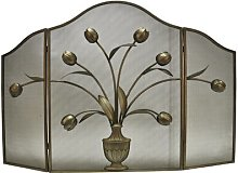 3 Panel Steel Fireplace Screen Ophelia & Co.