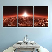 3 Panel Universe Abstract Landscape Pictures