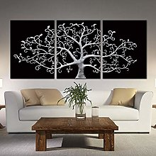 3 Panels Modern Posters And Prints Abstract Tree