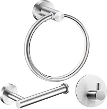 3 pcs Bathroom Accessory Set, Stainless Steel Wall