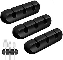 3 Pcs Cable Holder Clips, 3-Slots Self Adhesive