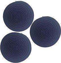 3 Pcs Hot Pot Holders Set, Cotton Thread Weave
