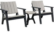 3 Pcs Patio Bistro Set Outdoor Garden Furniture