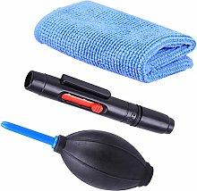 3 Pcs/set Camera Cleaning Kit Dust Pen Blower