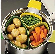 3 Pcs/set Silicone Steam Cooker Steamer Basket for