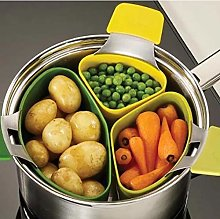 3 Pcs Silicone Steam Cooker Steamer Basket for