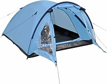 3-person Tent Blue QAH32245 - Hommoo
