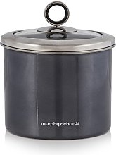 3 Piece Accents 1.4L Small Black Kitchen Canister