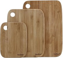 3 Piece Bamboo Chopping Board Set VonShef